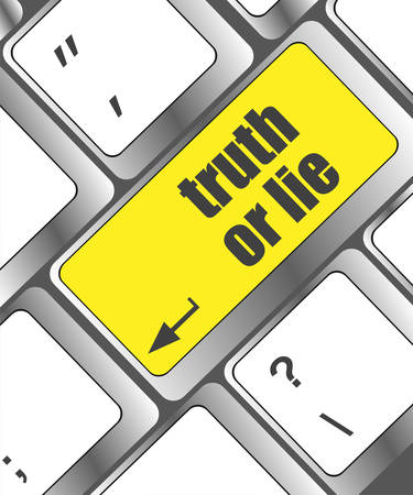 to lie: truth or lie button on computer keyboard key