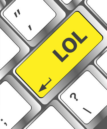 lol: keys saying lol on black keyboard