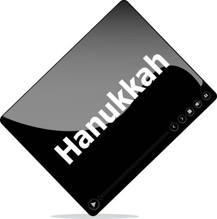 hannukah: Video movie media player with hannukah word on it