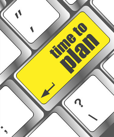 prognoses: future time to plan concept with key on computer keyboard Illustration