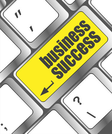 business success button on computer keyboard key Vector