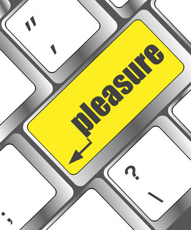 sexual pleasure: A keyboard with a pleasure key - social concept