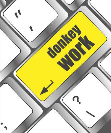 keyboard key: donkey work button on computer keyboard key