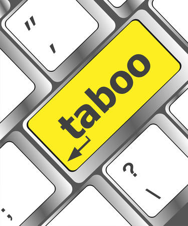 computer keys: Computer keys spell out the word taboo Illustration