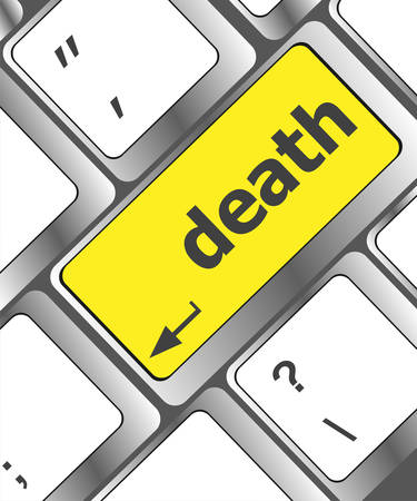 Keyboard with death word button Vector