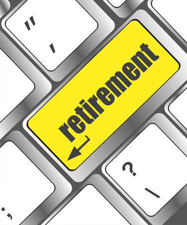 investment concept: retirement for investment concept with a button on computer keyboard Illustration