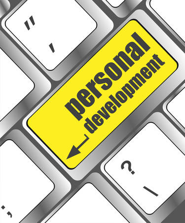 personal development: Keyboard key with enter button personal development