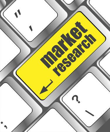 marktforschung: Schl�ssel mit Marktforschungs Text auf Laptop-Tastatur, Business-Konzept