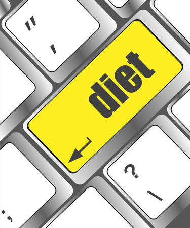 computer health: Health diet button on computer pc keyboard