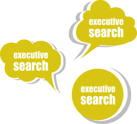 executive search: executive search. Set of stickers, labels, tags. Business banners, Template for infographics