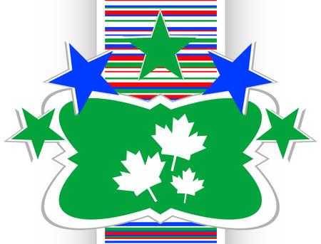maple leaf icon: Maple leaf icon on web button