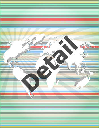 feedback link: The word detail on digital screen, business concept Illustration