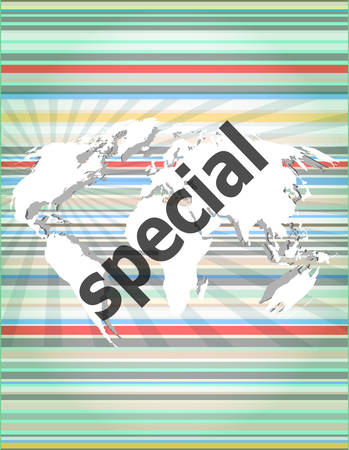 special education: Education concept: Special word on digital background Illustration