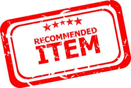 item: Item recommended grunge stamp Illustration