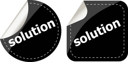 became: solution black stickers set, icon button