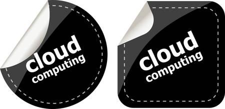 Stylish cloud speech bubble, cloud computing concept Vector