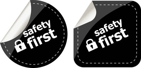 proxy: Secure lock sign label, safety first Illustration
