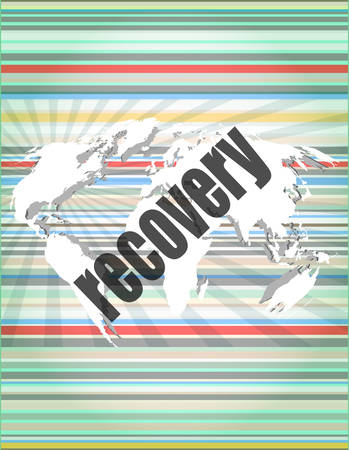 recovery: Information concept: word recovery on digital background