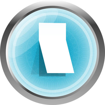 curled: Blank sticker with curled corner on web icon (button) Illustration