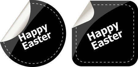 easter sign: Easter sign icon. Easter label tag symbol Illustration