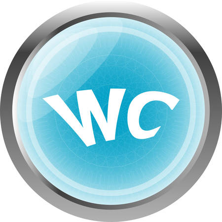 wc: wc icon, web button isolated on white