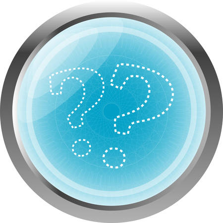 icona: Stylish button with question mark, isolated on white