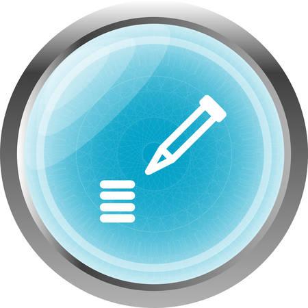sharpen: School Pencil Icon web icon on white background