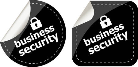 business security black stickers label tag set Vector