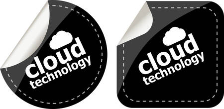 computering: Cloud technology icon, label stickers set