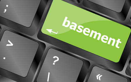 digitally concepts: basement message on enter key of keyboard