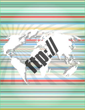 globális kommunikációs: ftp szót digitális kijelző, globális kommunikációs koncepció
