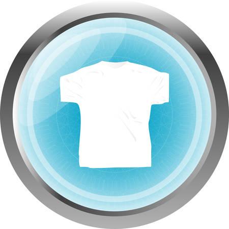 poliester: Ropa para mujeres o hombre. T-shirt icono aislado en blanco