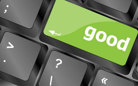good business: good - Business Concept. Button on Modern Computer Keyboard