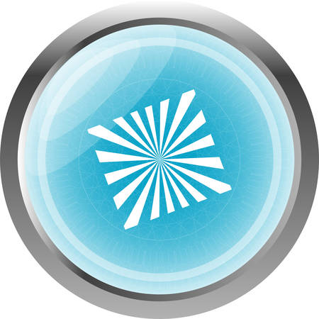 Sun Icon on Round Button isolated on white Vector