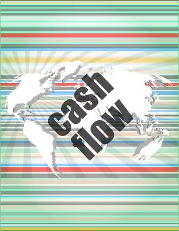 financial success: Gesch�fts Worte Cash-Flow auf digitalen Bildschirm, das Finanzerfolg Illustration
