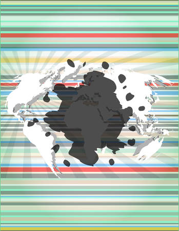 microblog: blots on digital touch screen, digital background Illustration