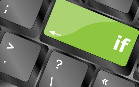keyboard key: if word on computer pc keyboard key