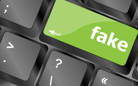 fake: fake button on computer pc keyboard key