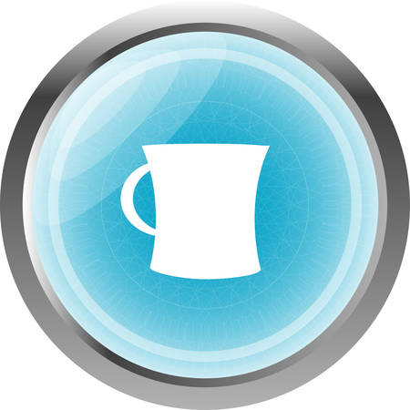 expresso: coffee cup button icon isolated on white