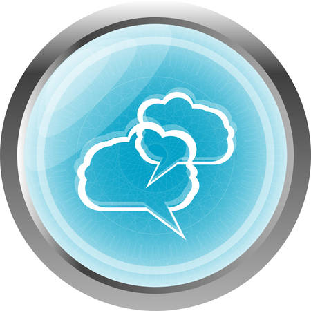 abstract cloud set on web icon button isolated on white Vector