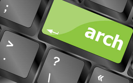 socialise: arch word on computer keyboard key