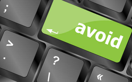 avoid: avoid word on keyboard key, notebook computer