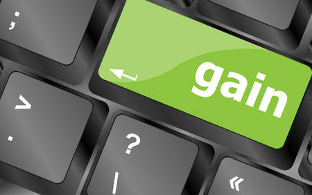 gain: gain word on computer pc keyboard key