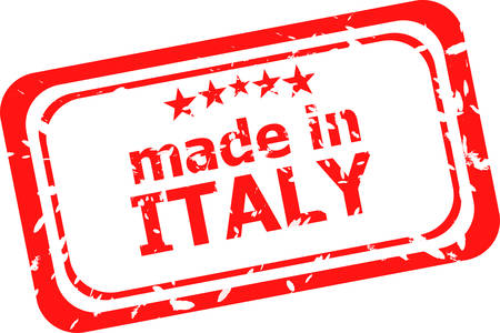 made in italy: Grunge made in Italy rubber stamp Illustration