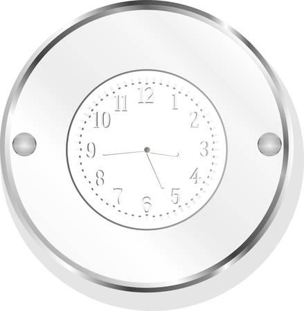 metallic: vector metalen klok design icoon