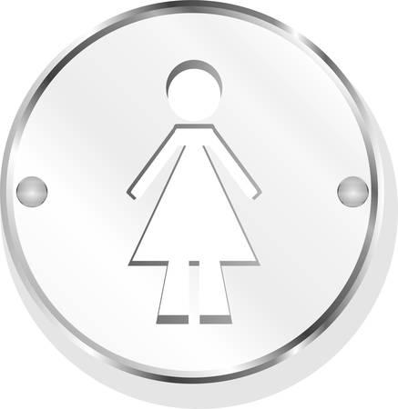 metallic button: woman metallic button vector