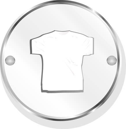 poliester: Ropa para mujeres o hombre. T-shirt icono aislado en blanco vector Vectores
