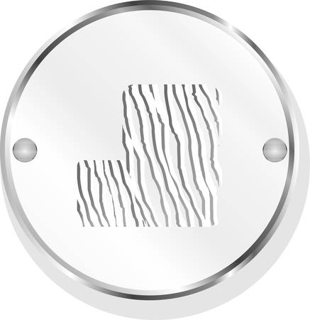 lit collection: abstract icon on internet button isolated on white vector
