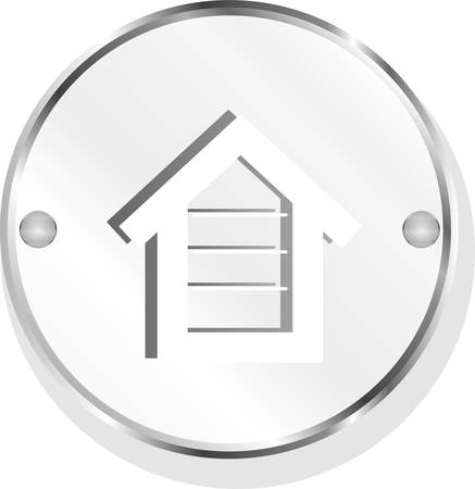 brushed aluminum: Home icon vector