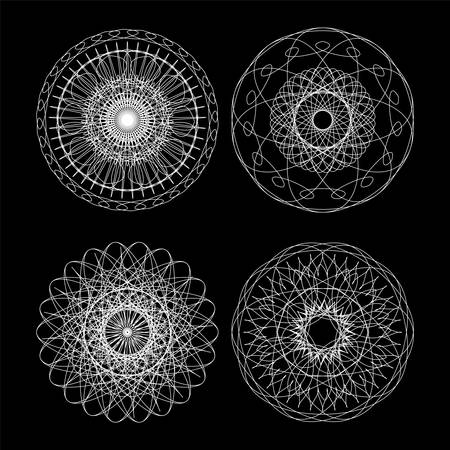 microprint: Guilloche vector elements